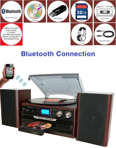 Boytone BT-24DJM Turntable Bluetooth CD, Cassette Player AM, FM USB, SD Slot. Encoding To-MP3 2f409bf1d774ac116b8fe250f5e5f111