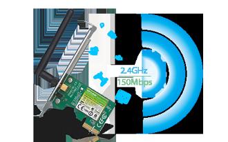 【3/27前全店滿萬現領 $1000‧滿$5000領$400】TP-LINK TL-WN781ND 150Mbps 無線 PCI Express 網路卡