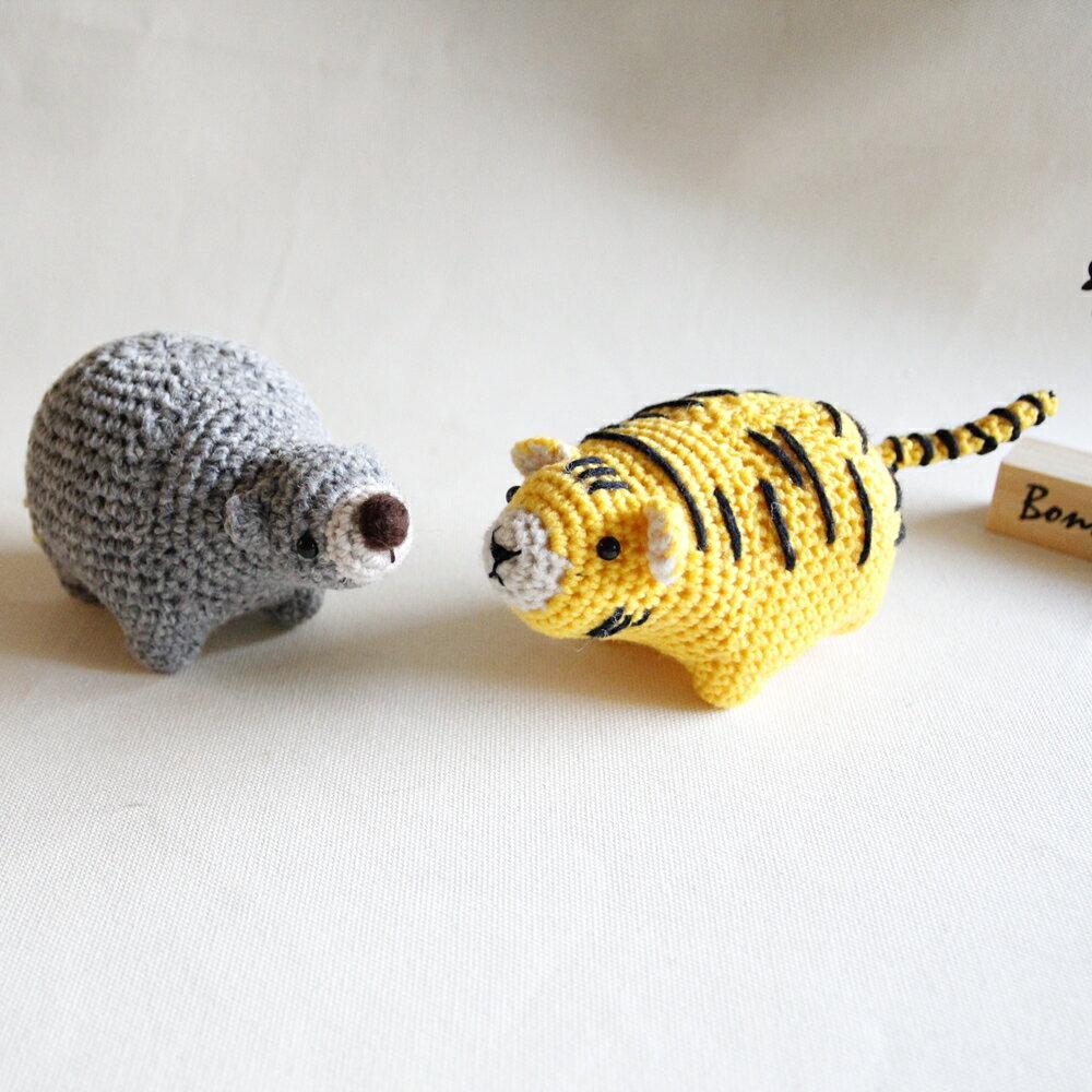 【布棉花】手鉤玩偶 手作娃娃 角落生物 療癒陪伴 小老虎 貓科動物