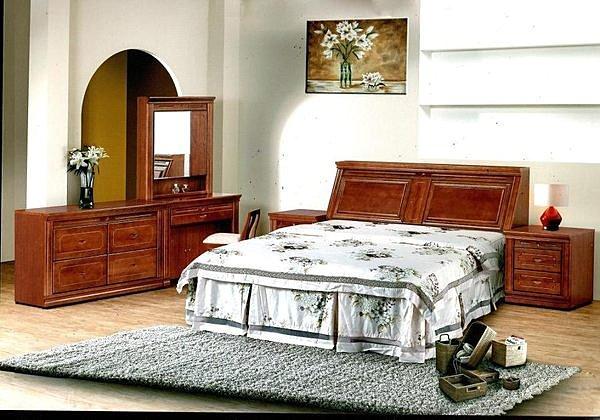 【尚品家具】 401-12 北美鐵衫木半實木6尺床組 《台中市部分地區免運費》