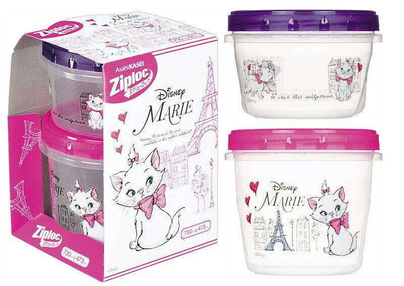 現貨 2017 Ziploc 迪士尼聯名 微波耐熱保鮮盒瑪麗貓米奇米妮/保鮮袋夾鏈袋 媽媽寶貝最愛 全六組新發售*日本直送*