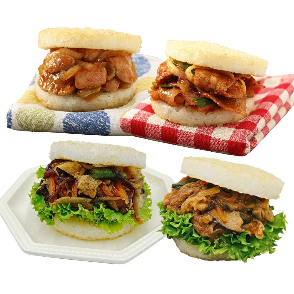 [免運]新口味上市★米漢堡2盒(醬燒牛 / 韓式豬 / 甜燒雞 / 綜合彩蔬 / 咖哩牛)(2盒共12入)【MOS摩斯漢堡】 1