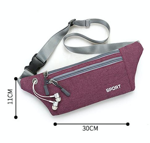 【宸豐光電】腰包,多功能帆布腰包附耳機孔兩拉鍊。戶外活動手機包。貼身防盜包、運動腰包 6
