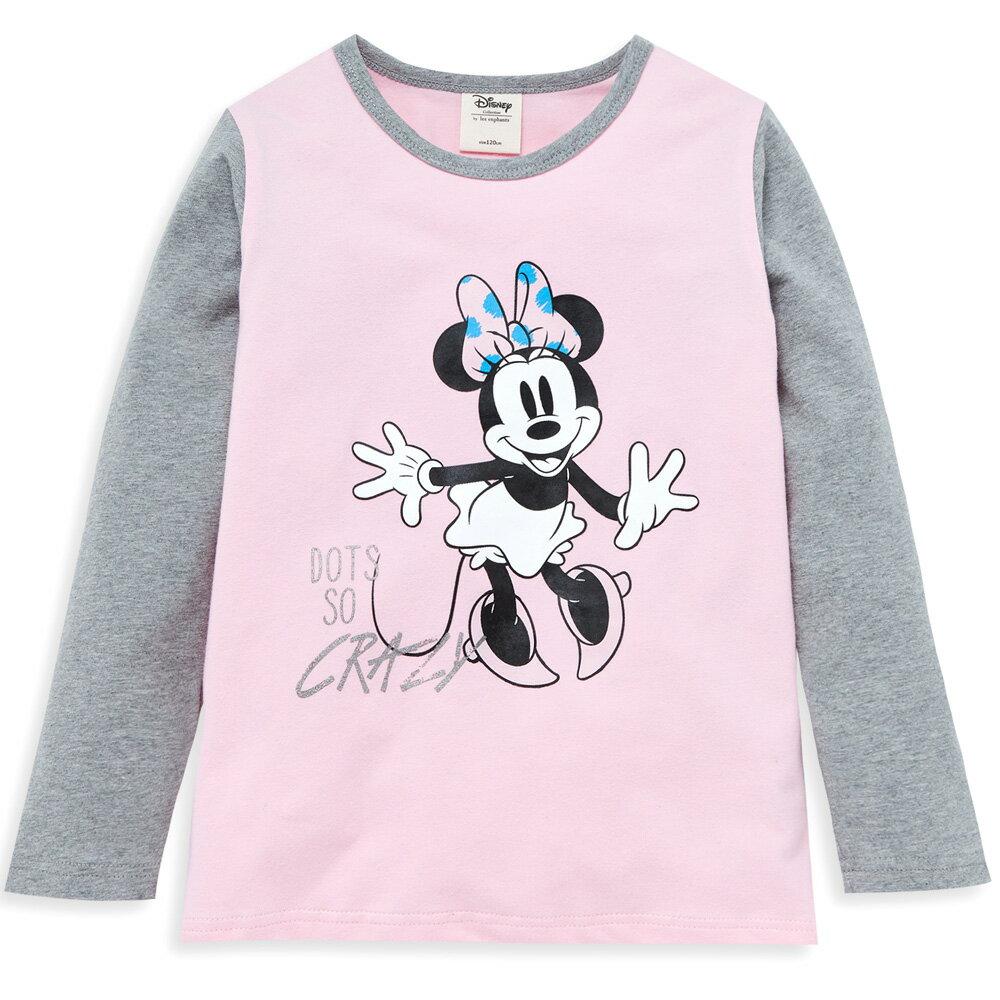 Disney 米妮系列歡樂塗鴨上衣-粉紅 - 限時優惠好康折扣