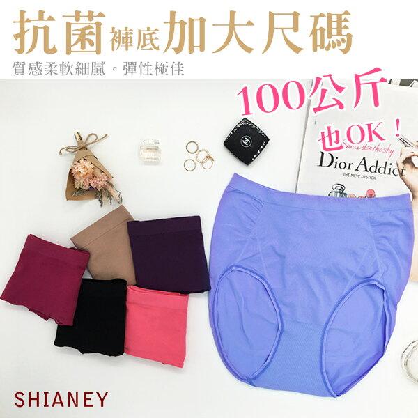 女性無縫抗菌加大尺碼內褲 台灣製造 No.679-席艾妮SHIANEY
