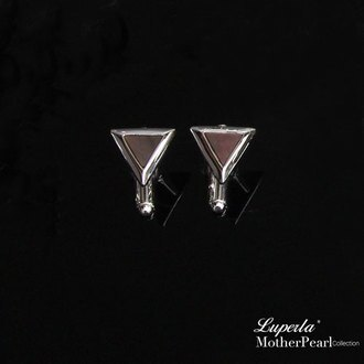 大東山珠寶 法式品味男士系列 都會紳士純銀袖扣 三角