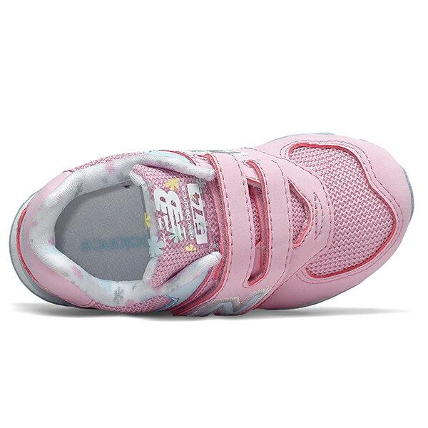 Shoestw【IV574KCR】NEW BALANCE NB574 運動鞋 黏帶 小童鞋 Wide 粉水藍 小花 2