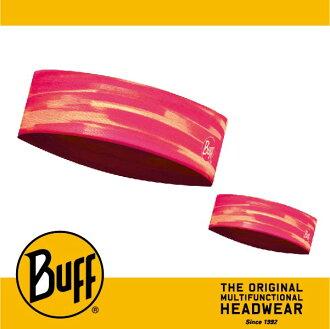 BUFF 西班牙魔術頭巾 Slim頭帶 帽子&頭帶 COOLMAX涼感抗UV系列 [粉紅搖曳] BF113658-538-10-00
