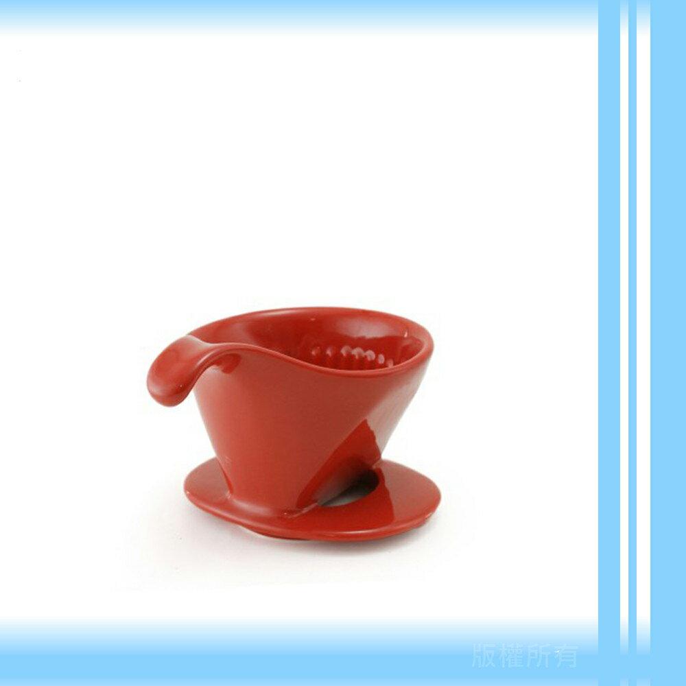 【日本】ZERO JAPAN 101系列素雅陶瓷雙孔咖啡濾杯(番茄紅)