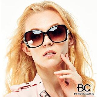 嚴購網:【嚴購網】BC法國獨創豹紋框鱷魚紋鏡架太陽眼鏡(茶色BC-6159)