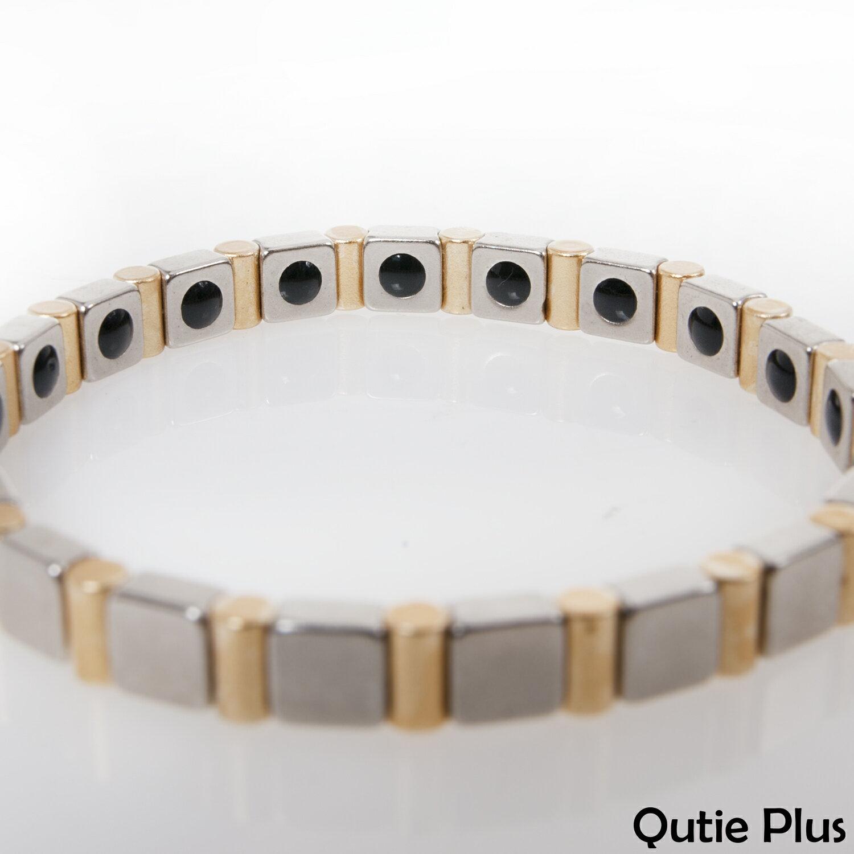 【嚴購網】Qutie plus百變黃金可拆式鍺手鍊