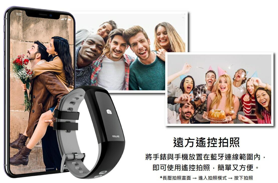 GOLiFE Care-Xe 智慧悠遊觸控心率手環 公司貨 悠遊卡 心律監測 遠控拍照 IP66 / IP67防水防塵 4