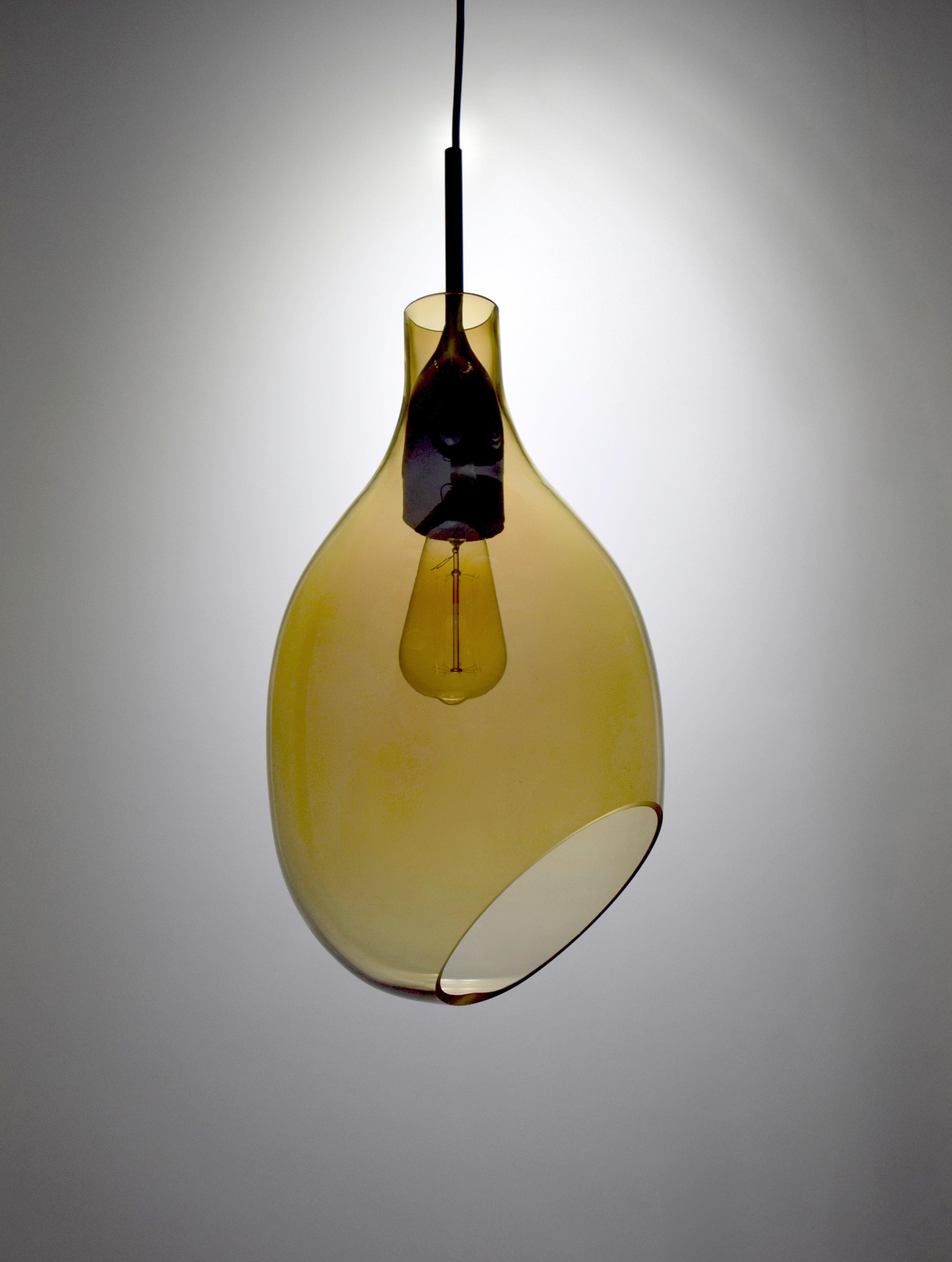 VESSEL 斜口玻璃琥珀色吊燈-BNL00126 3