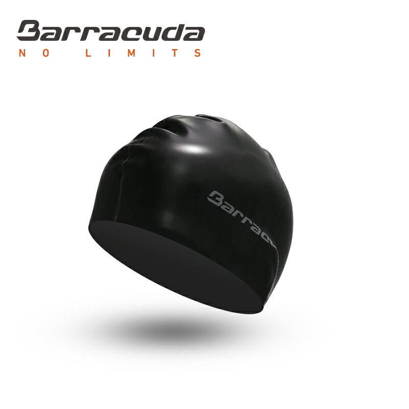 美國巴洛酷達Barracuda成人矽膠泳帽-黑 - 限時優惠好康折扣