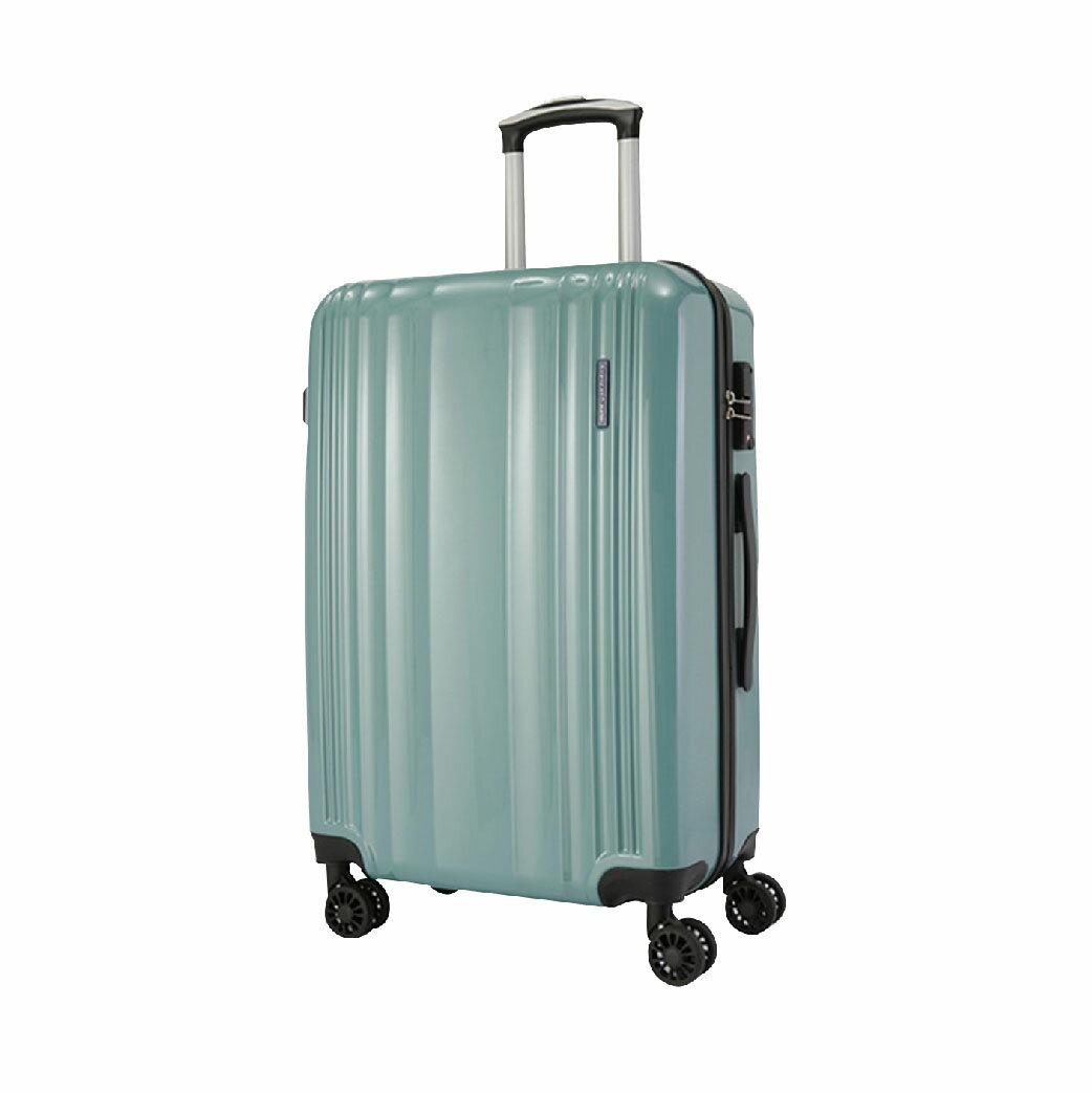 【哇哇蛙】LON英倫系列-PC亮面耐衝擊輕量行李箱 29吋(湖水綠)旅行箱 多色可選