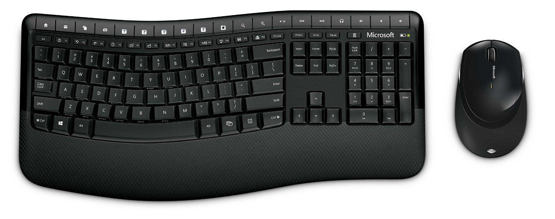 Microsoft Wireless Comfort Desktop 5000 Keyboard and Mouse - Black 2