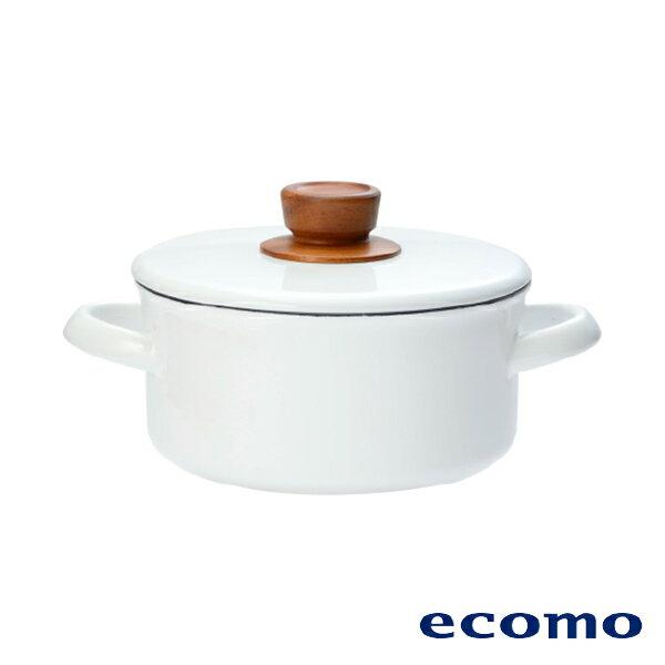 【領券現折+點數回饋$583】日本 ecomo ( AIM-CT101 ) cotto cotto IH電磁爐 x 富士琺瑯鍋組 3