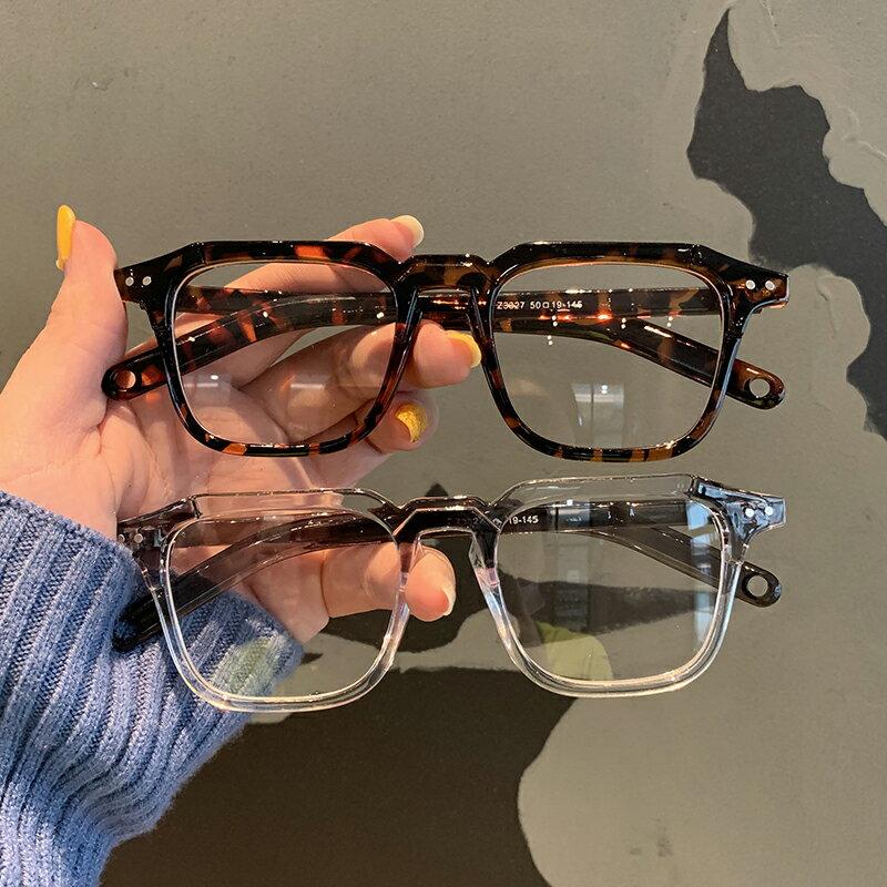 超火小紅書同款小方框黑色粗框 2020新款可配近視防藍光眼鏡架  潮流居家 雙11