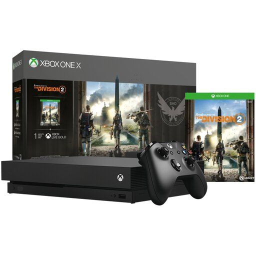 Microsoft Xbox One X Bundle: 1 TB Console with Tom Clancys The Division 2