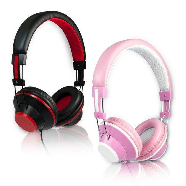 aibo高清時尚耳罩式耳機麥克風(線控)頭戴式重低音耳機全罩式耳機語音通話線控耳機
