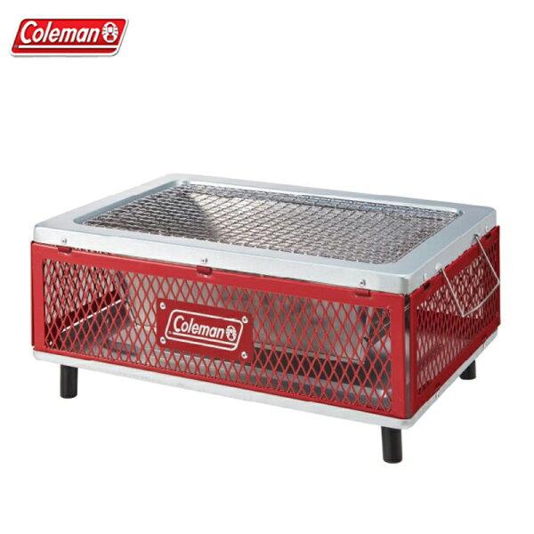 【露營趣】中和安坑ColemanCM-31236酷立架摺疊桌上烤肉箱烤肉架桌上型烤箱焚火台燒烤箱BBQ