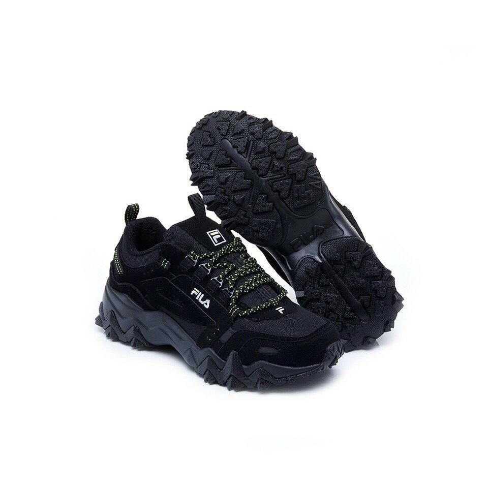 超取$499免運 ▶帝安諾 實體店面 FILA OAKMONT TR 復古 鋸齒 老爹鞋 運動休閒鞋 奶茶 全黑 J032U 166 001