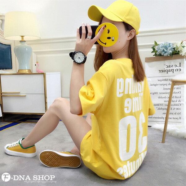 F-DNA★Waiting前後印字長版上衣圓領短袖T恤(3色-M-2XL)【ET12711】 2