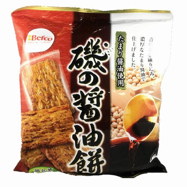 【Befco栗山米菓】磯醬油餅米果12枚入72g青海苔醬油風味仙貝磯の醤油餅日本進口零食