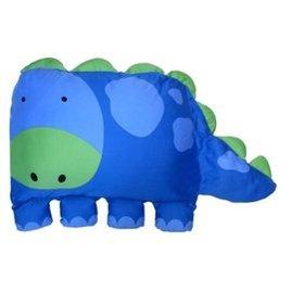 【淘氣寶寶】Milo&&Gabby動物好朋友-大枕頭套(DYLAN恐龍)+超細纖維防蟎大枕心【100%純棉透氣舒適】