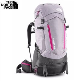 [ THE NORTH FACE ] 女 55L 專業登山背包 斑紋灰/粉桃紅 / 公司貨 NF00A1P1EQE {XS/S M/L}
