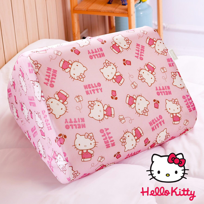 【名流寢飾家居館】Hello Kitty.小花日記.抬腿枕.三角枕.記憶枕.全程臺灣製造