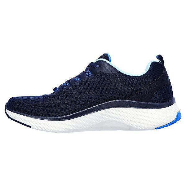 SKECHERS【149051NVBL】Solar Fuse 健走鞋 透氣網洞 記憶鞋墊 深藍水藍 女生