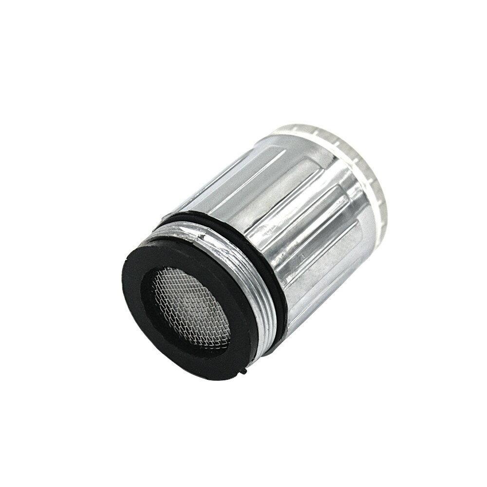 發光3色變化LED燈廚房浴室龍頭壓力傳感器控制TE淋浴頭