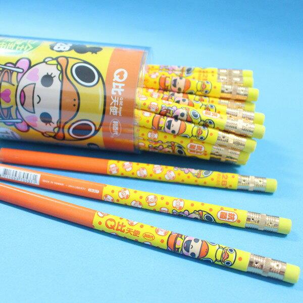 利百代Q比天使2B 兒童 大三角鉛筆 筆擦 CB~207 學前鉛筆 MIT製 一筒36支入