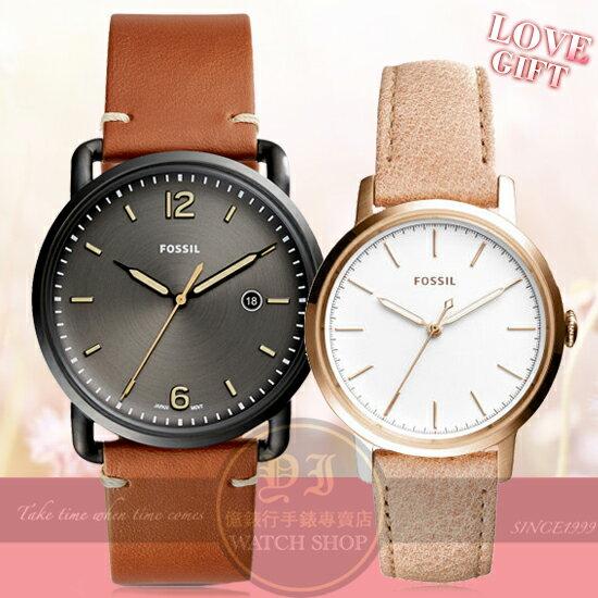 FOSSIL美國品牌都會簡約情人對錶FS5276/ES4185公司貨/禮物/情人節