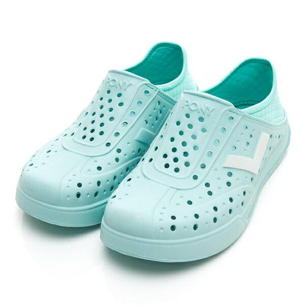 《2019新款》Shoestw【92U1SA03BL】PONY Enjoy 洞洞鞋 水鞋 海灘鞋 可踩跟 懶人拖 菱格紋 蒂芬妮綠 白V Tiffany 男女尺寸都有 0