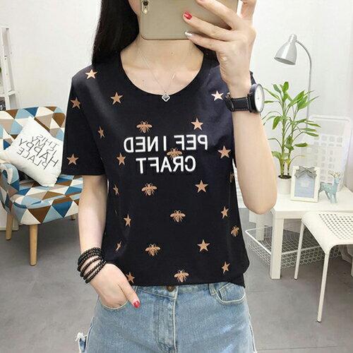 純棉印花T恤(4色M~XL)*ORead* 2