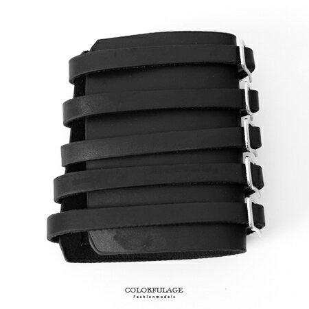 護腕 日系潮流金屬扣環皮革造型護腕套 重機搖滾龐克風格 柒彩年代【NM55】視覺系配件 - 限時優惠好康折扣