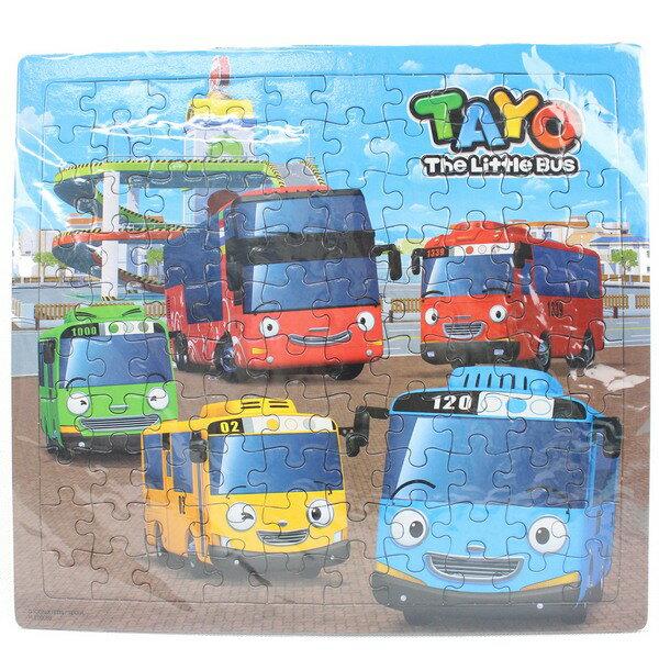 TAYO小巴士拼圖 100片拼圖 PUZ0808A-B(大方形/加厚)/一個入{促120} 幼兒卡通拼圖