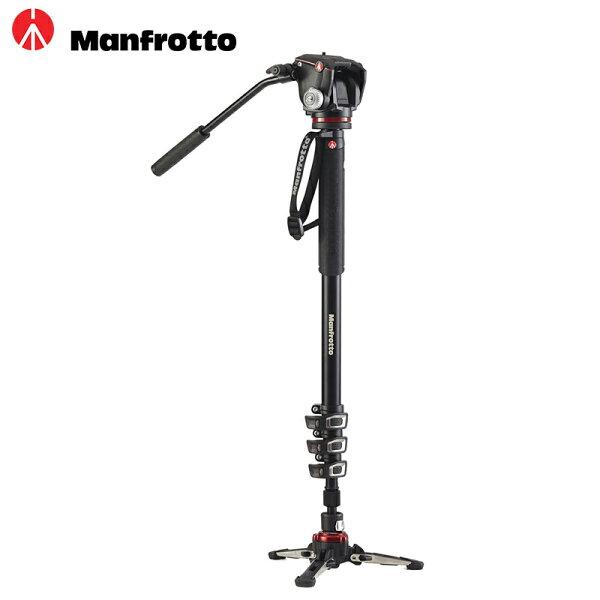 ◎相機專家◎ManfrottoMVMXPROA42W鋁製四節單腳架雙向雲台套組承重4KG液壓底座公司貨