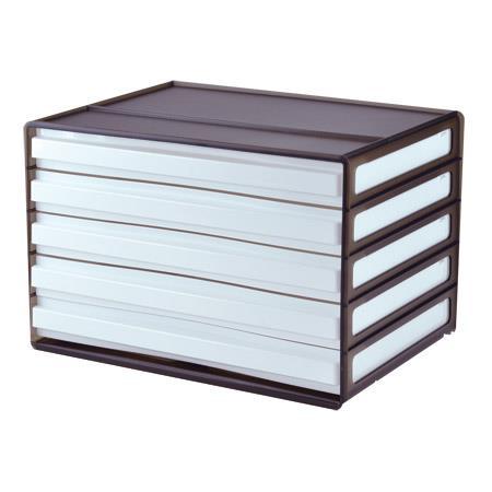 樹德 DDH-105 A4橫式桌上文件櫃(5抽)-黑色