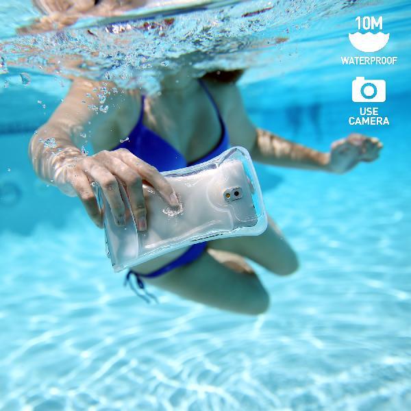 DiCAPac WP-C1 (有現貨)高耐磨手機防水袋(5.1吋以下)-白色