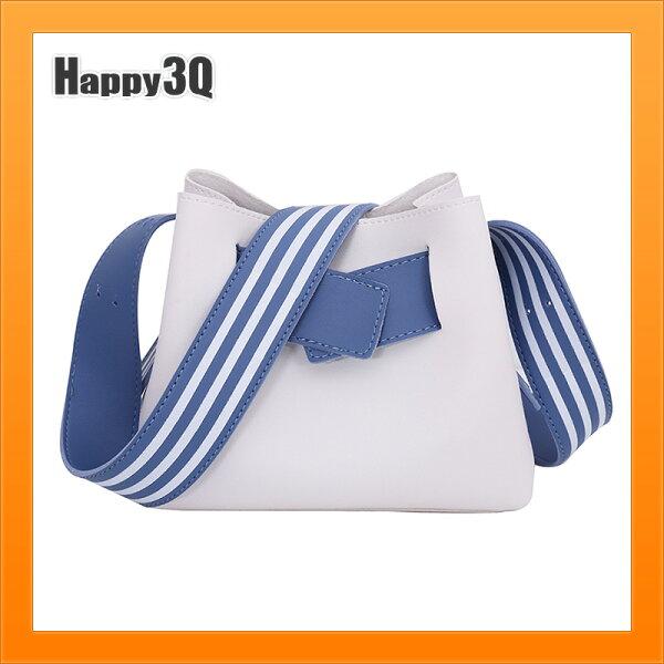包包小包包迷你包肩背包條紋肩背帶原宿風個性-黑白粉【AAA4954】