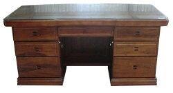 【尚品傢俱】748-09 高昇 6尺正樟木實木辦公桌(含8mm玻璃)~另有5尺辦公桌/書桌/事務桌/主管桌