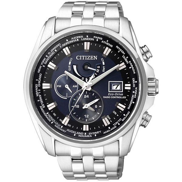 CITIZEN星辰AT9031-52L金城武廣告款電波光動能腕錶/藍面44mm