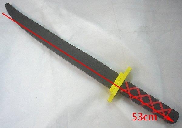萬聖節服裝/配件/忍者武器/忍者短劍/道具武士刀/安全武士刀