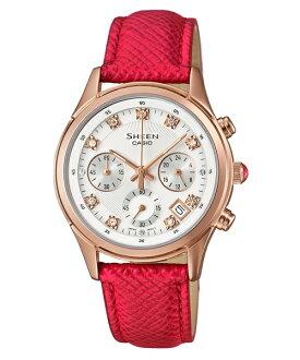 CASIO SHEEN SHE-5023GL-7B 紅金時尚腕錶/白色32mm