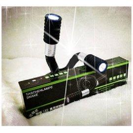雙頭蛇形燈 LED蛇管萬用照明手電筒  1支  萬用LED照明燈 急救 摸黑 掛在脖子上