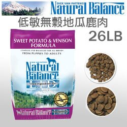 《Natural Balance 天然寵物食糧》特殊低敏無穀地瓜鹿肉 - 26磅 / 全犬配方