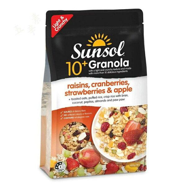 澳洲Sunsol10+綜合脆片穀物(草莓、蔓越莓、南瓜子類)400g包